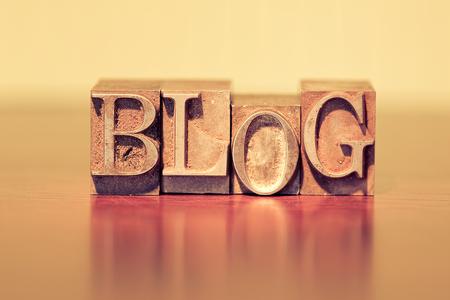 블로그 활판 블록으로 철자. 스톡 콘텐츠