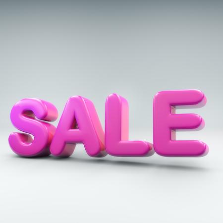 風船のような単語の販売の 3 D レンダリングします。 写真素材
