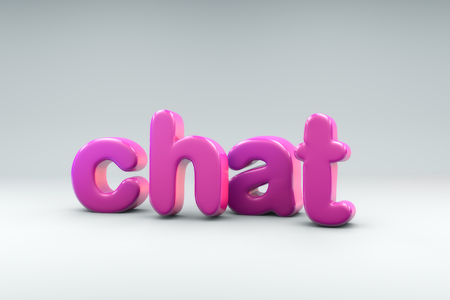 3D rendering of the word CHAT Stock Photo