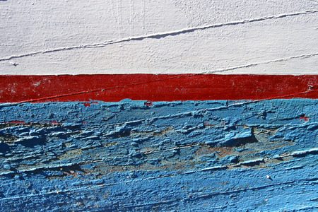 Paint on an old ship. Stock Photo