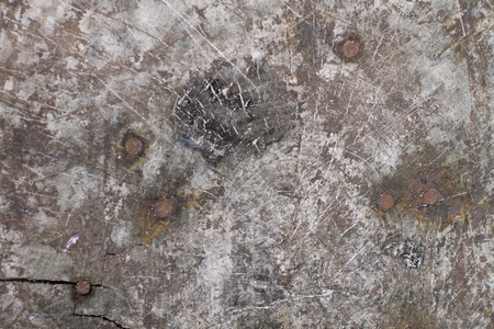 Close up of  corroded metal, stone, wood.