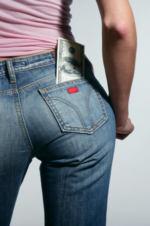 money in your pocket. Stock Photo
