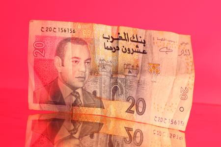 Twenty Dirham note from Morocco.