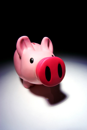Close up of  a child's piggy bank. Stock Photo