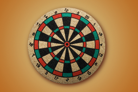 Cork Dartboard isolated with clipping path.