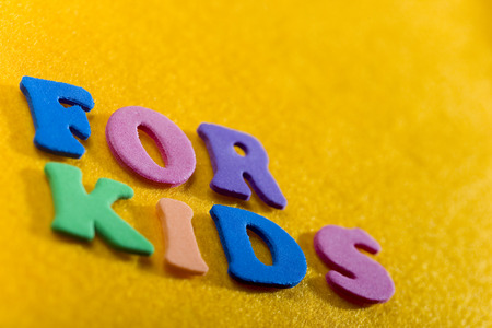 For Kids. Colorful letters, good for any subject matter dealing with children.