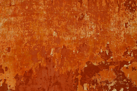 Rusty-colored grunge wall Stock Photo