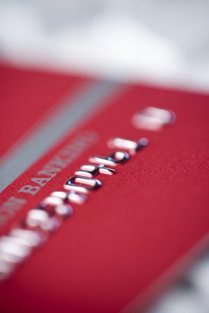 Macro shot of ATM card.