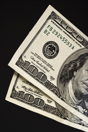 Three Hundred dollar bills Imagens