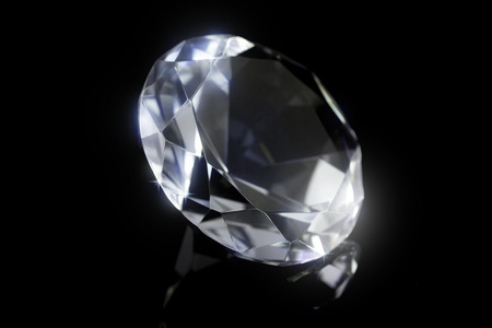 Faux Diamond on black background.