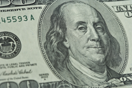 100 달러짜리 지폐의 닫습니다.