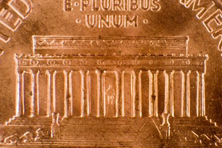 Macro shot of a penny