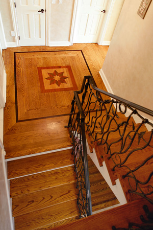 Decorative woodwork in a residential house.