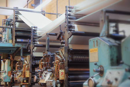 Vintage printing press.  版權商用圖片