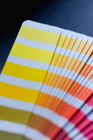 Color matching swatch. Stock Photo