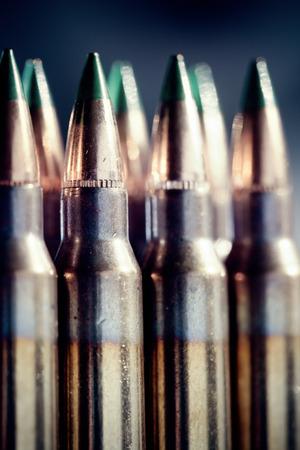 5.56 Caliber bullets. Shallow DOF.