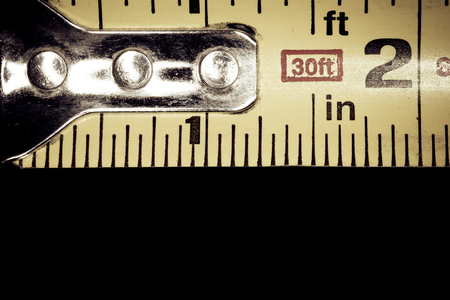 Close-up shot of a tape measure.