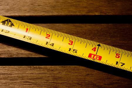 yellow measuring tape detail Stock Photo