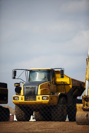 Dump truck view from the front Stock Photo