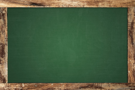 Wood-framed chalkboard Stock Photo