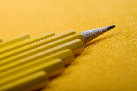Formation of pencils with one sharpened.
