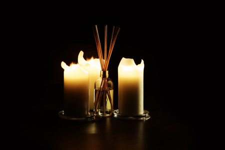 Candles and scented oil Stock Photo - 101731041