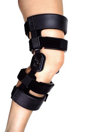 leg in medical brace