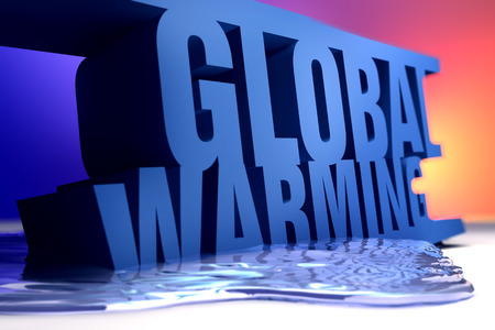 3D rendering of the word Global Warming.