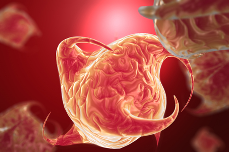 Rendering of a virus-like cells