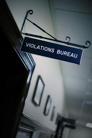 Violations bureau at city hall. Stock Photo