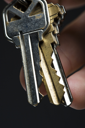 Three keys in hand
