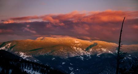 Sunset in Big Sky, Montana, USA.