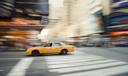 Tracking a fast moving taxi through Times Square, New York City.
