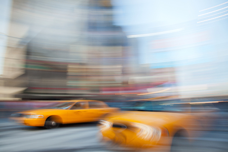 Yellow Cabs in NYC Stock fotó