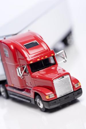 Model semi-truck detail Stock Photo