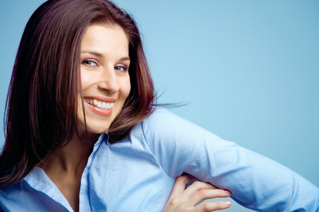 Young woman with a natural smile.