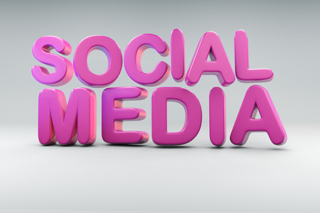Bubble like 3D rendering of the word Social Media