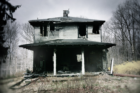 A single family home after a fire.
