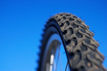 Macro image of mountain bike tire Фото со стока