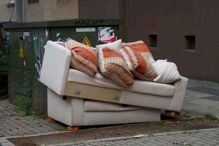 대형 쓰레기 독일 스톡 콘텐츠