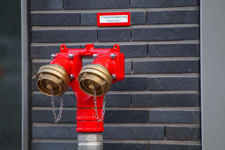 medical fight: A red hydrant