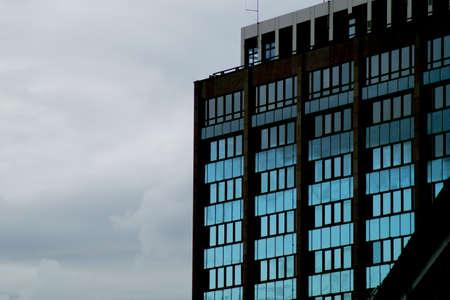 upturn: A building at dusk