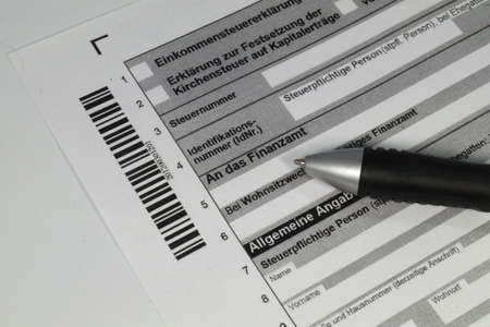 tax evasion: German tax return form Stock Photo