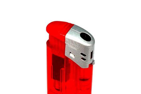 firestarter: A red lighter Stock Photo