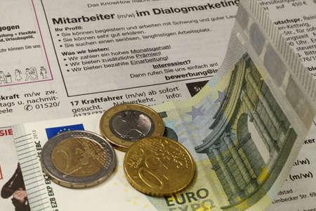 minimum wage: Salario M�nimo Foto de archivo