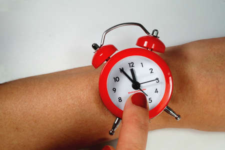 Biological clock of a woman Stock Photo