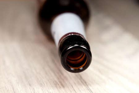inebriation: Empty beer bottle