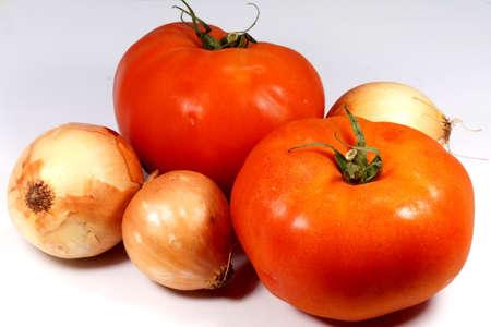 cebollitas: Los tomates y las cebollas