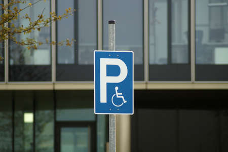 traffic warden: Handicapped Parking Stock Photo