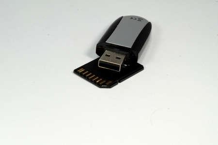memory stick: USB memory stick and memory card Stock Photo
